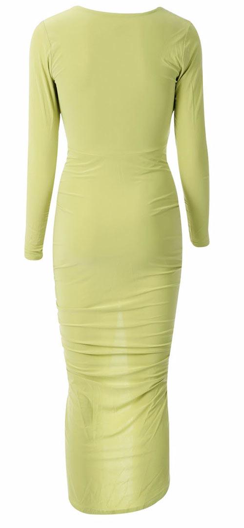 Dlouhé zelené společenské šaty