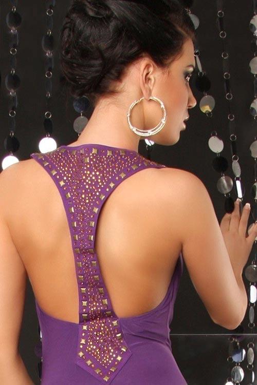 Šaty na ples s odhalenými zády