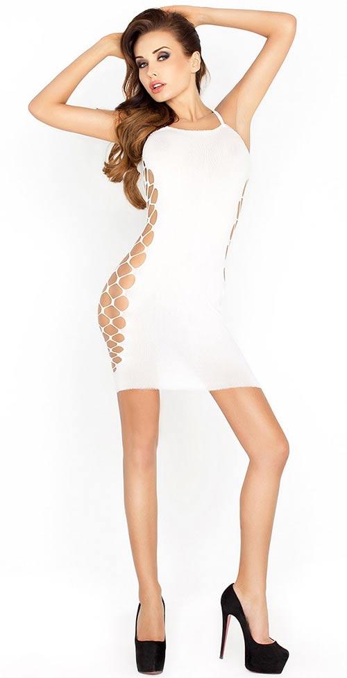 Svůdné elastické mini šaty Kira s průstřihy