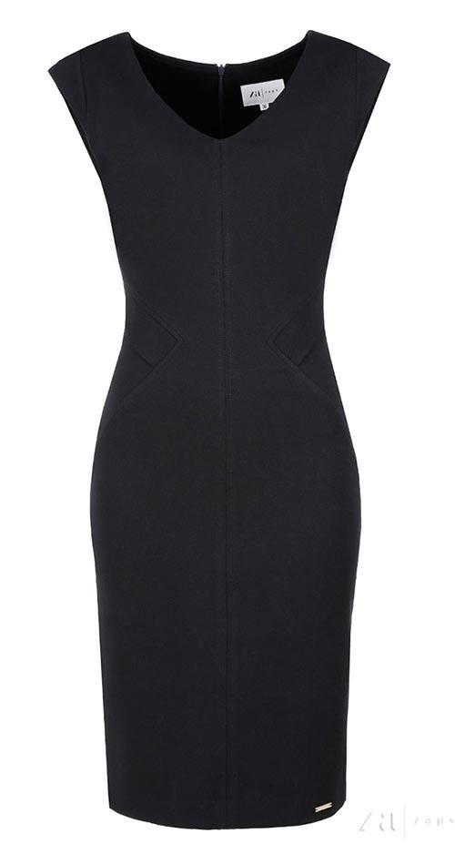 Černé koktejlové šaty