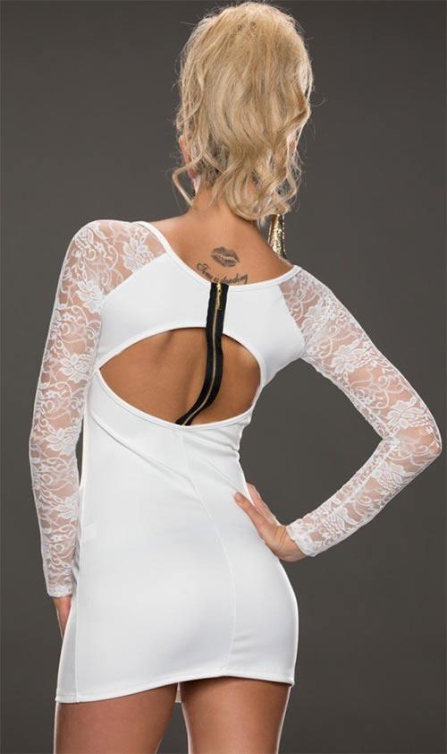 Krajkové šaty s atypickým zipem