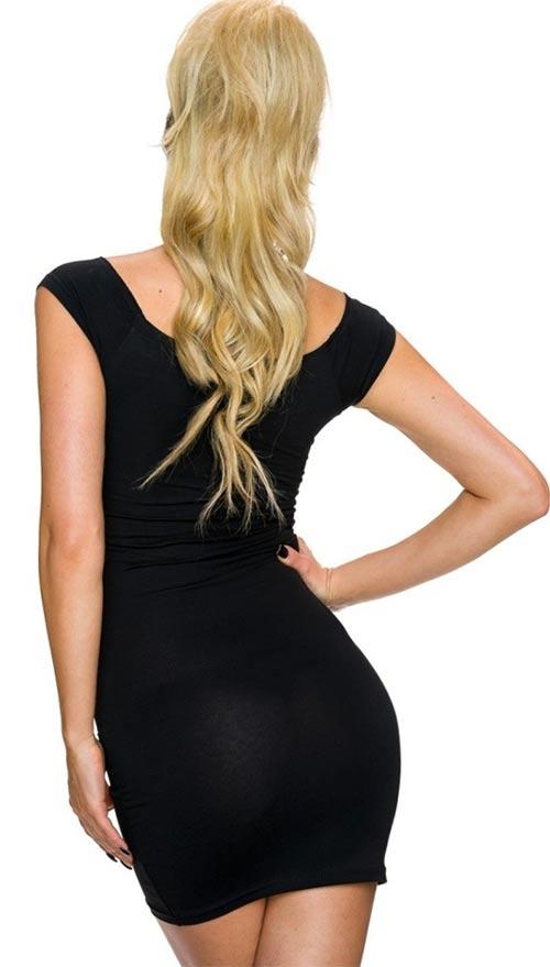 Černé dámské letní mini šaty