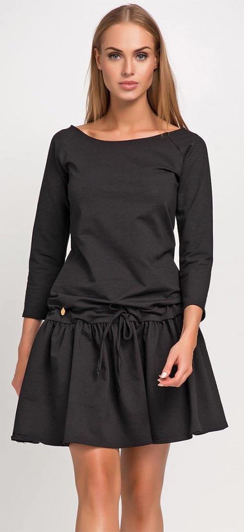 Černé letní sportovní šaty