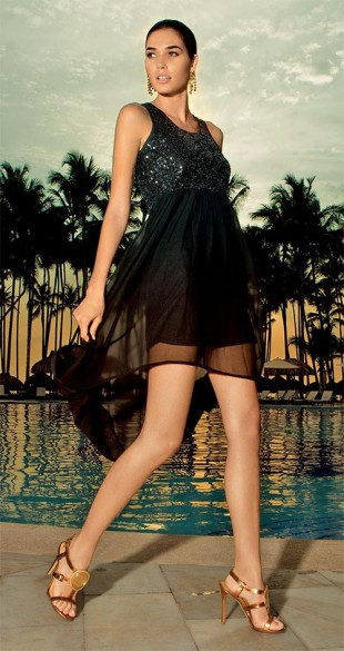 Luxusní večerní společenské šaty na širší ramínka