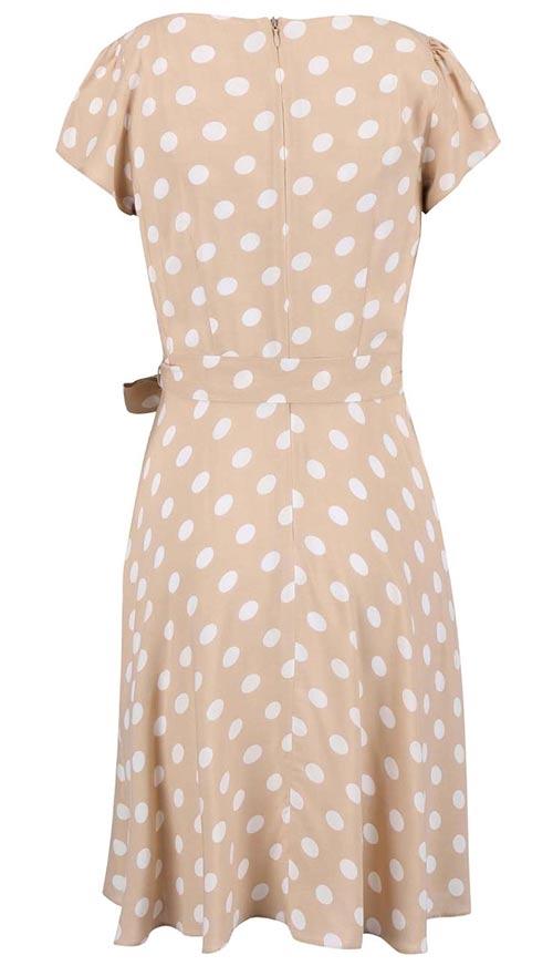 Puntíkované šaty s nařasenou sukní