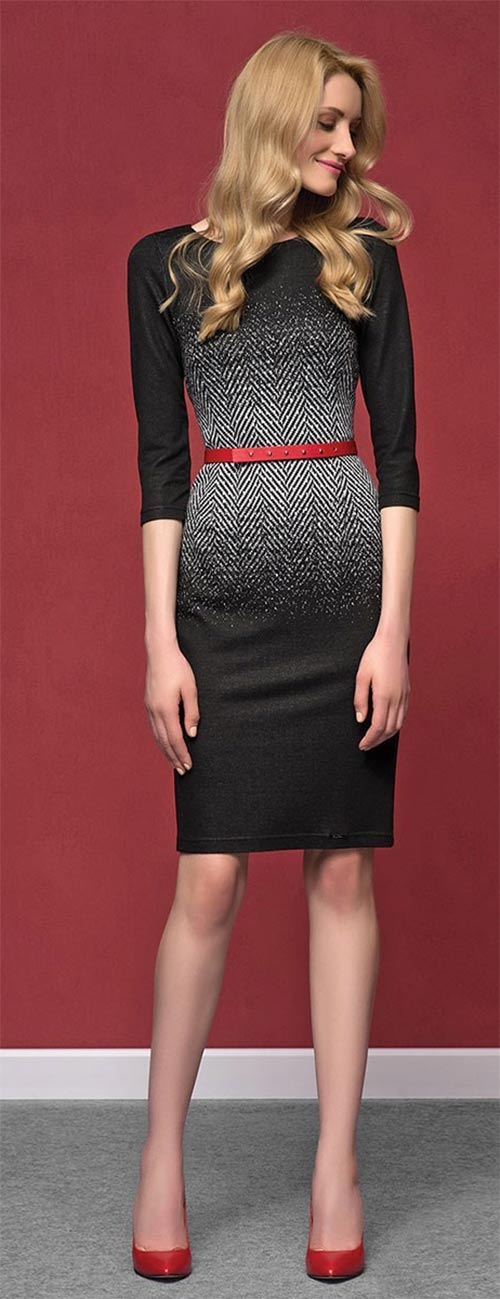 Dámské elegantní pouzdrové šaty Nubira Black