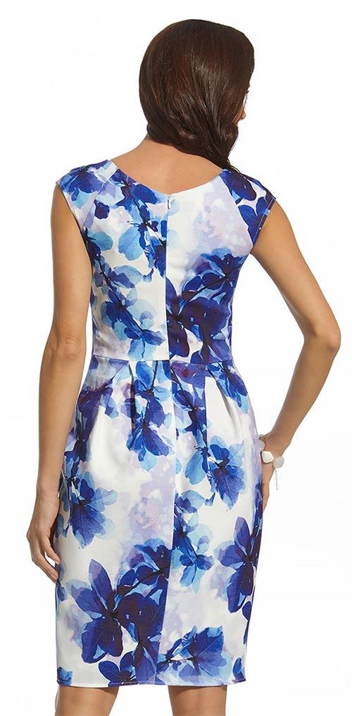 Šaty s délkou po kolena s motivem květin