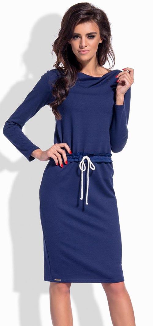 tmavě modré šaty do kanceláře