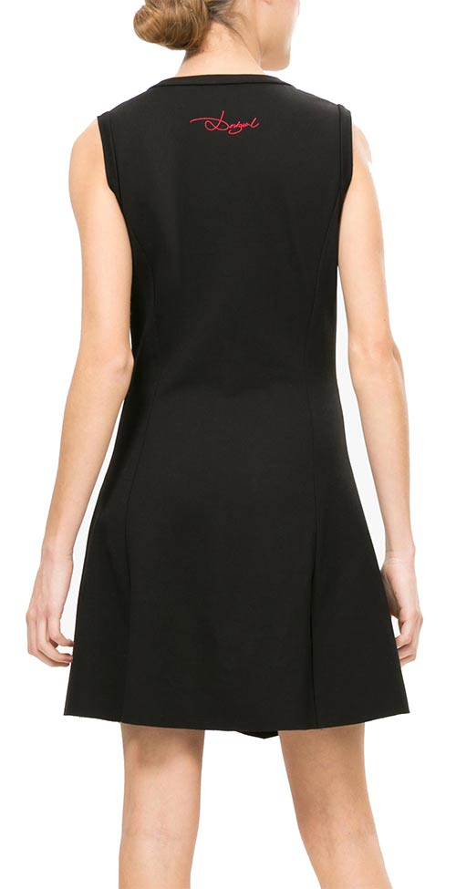Černé značkové pouzdrové šaty