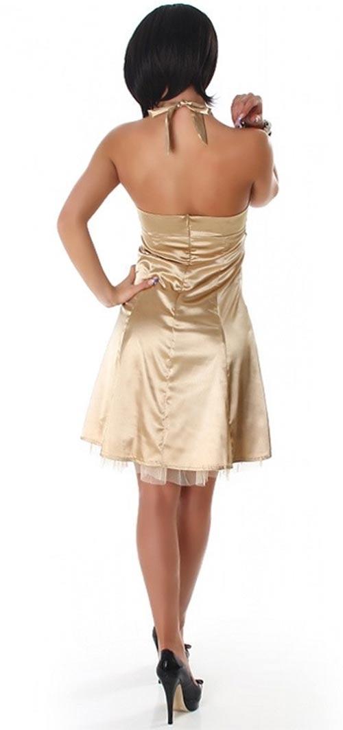 Plesové šaty s odhalenými zády