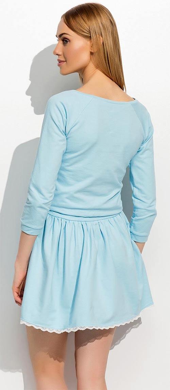 Světle modré dámské společenské šaty