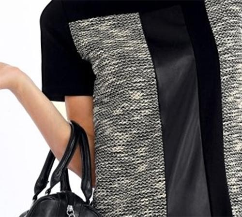 ZImní úpletové šaty s geometrickými vzory