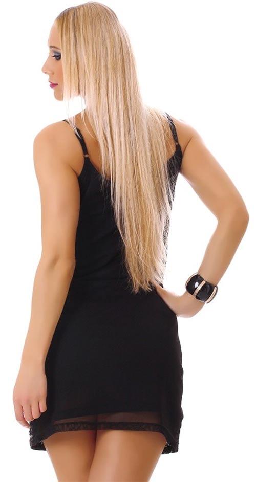 Kraťounké černé dámské šaty