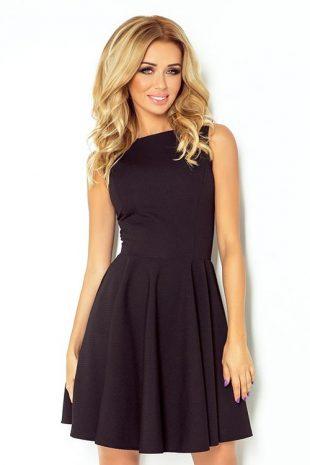 Společenské šaty bez rukávů s nařasenou sukní