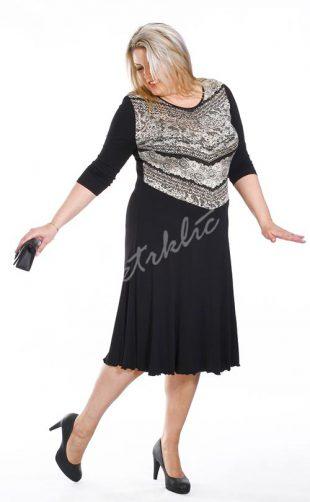 Společenské šaty pro plnoštíhlé SALMA