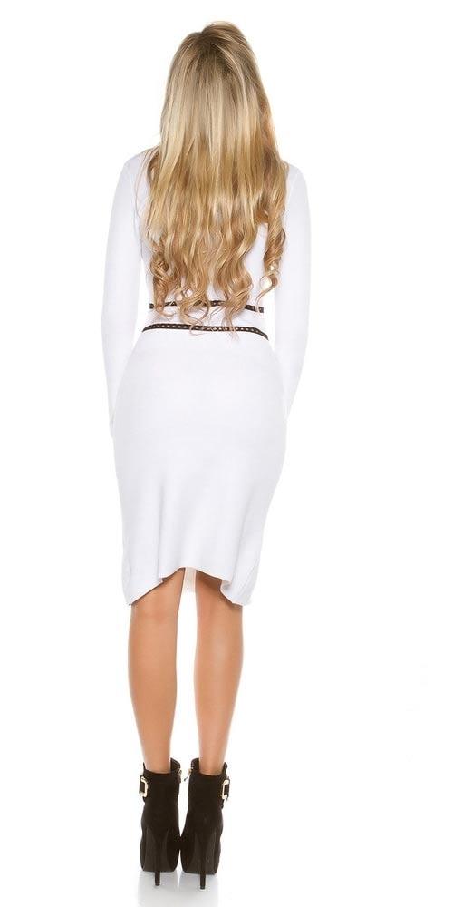Bílé jarní hřejivé šaty