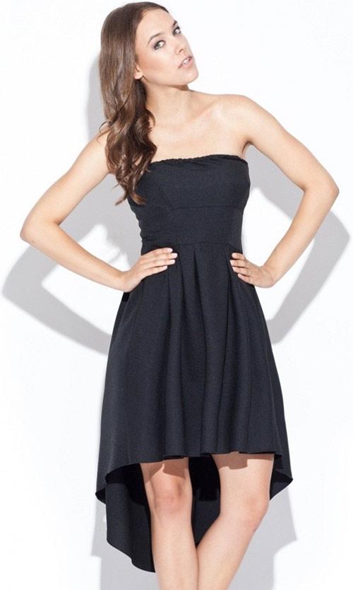 Nádherné dámské černé šaty Katrus K031