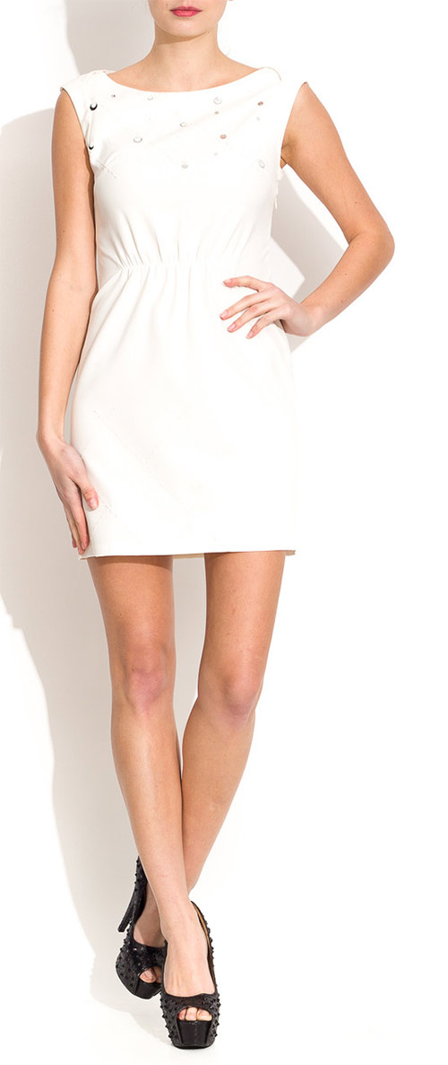 Bílé šaty s flitry