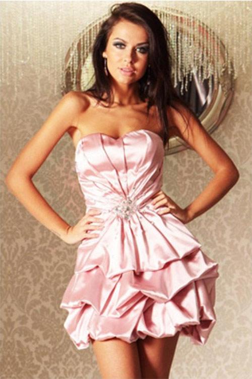Večerní šaty starorůžové barvy