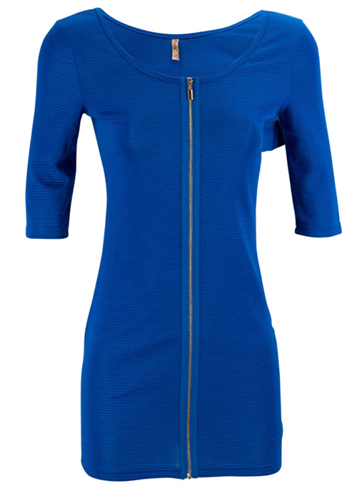Modré šaty se zipem