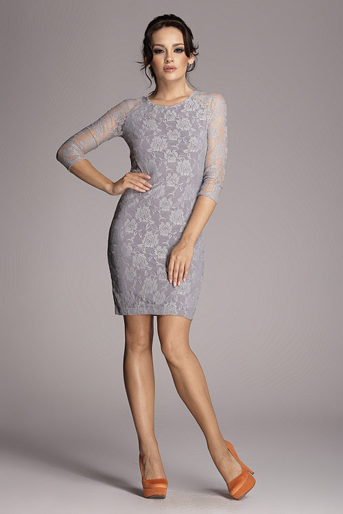 Romantické krajkové šaty Figl 76