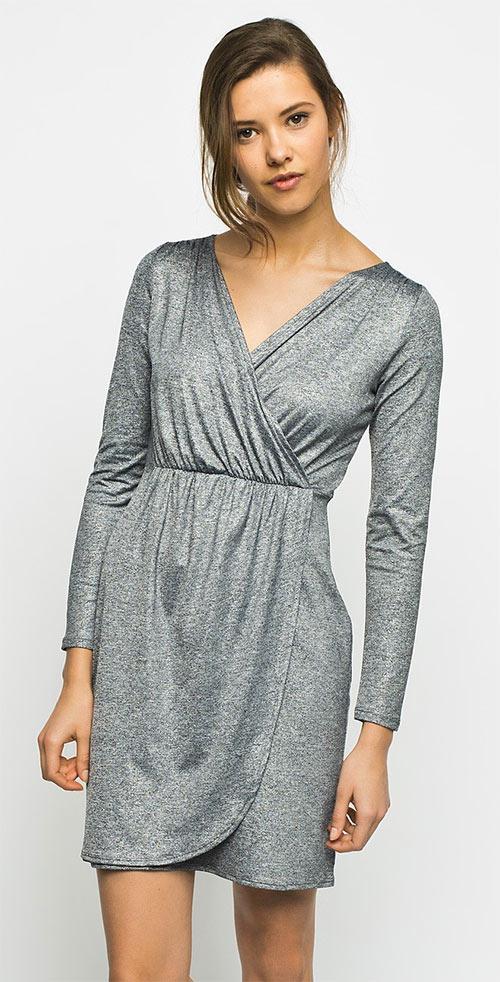 Šaty Evening Touch z mírně lesklé melírované látky