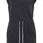 Tmavě šedé šaty s květovanou tkaničkou ONLY Tina