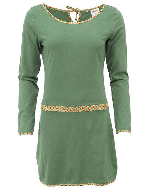 Zelené šaty s dlouhým rukávem Tranquillo Maja