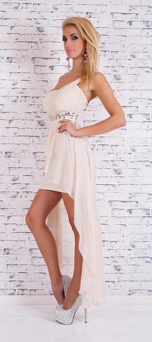 Dívčí šaty do tanečních s vlečkou