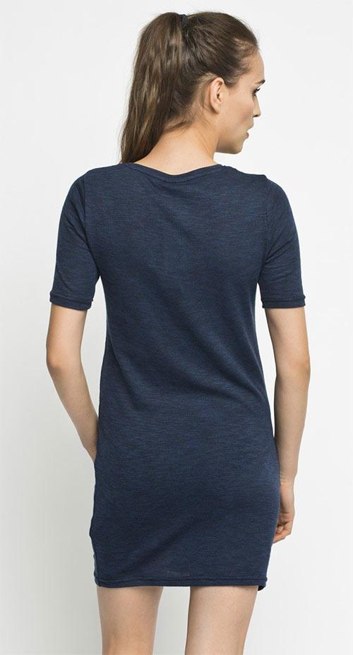 Noisy May - Modré šaty Simple s potiskem