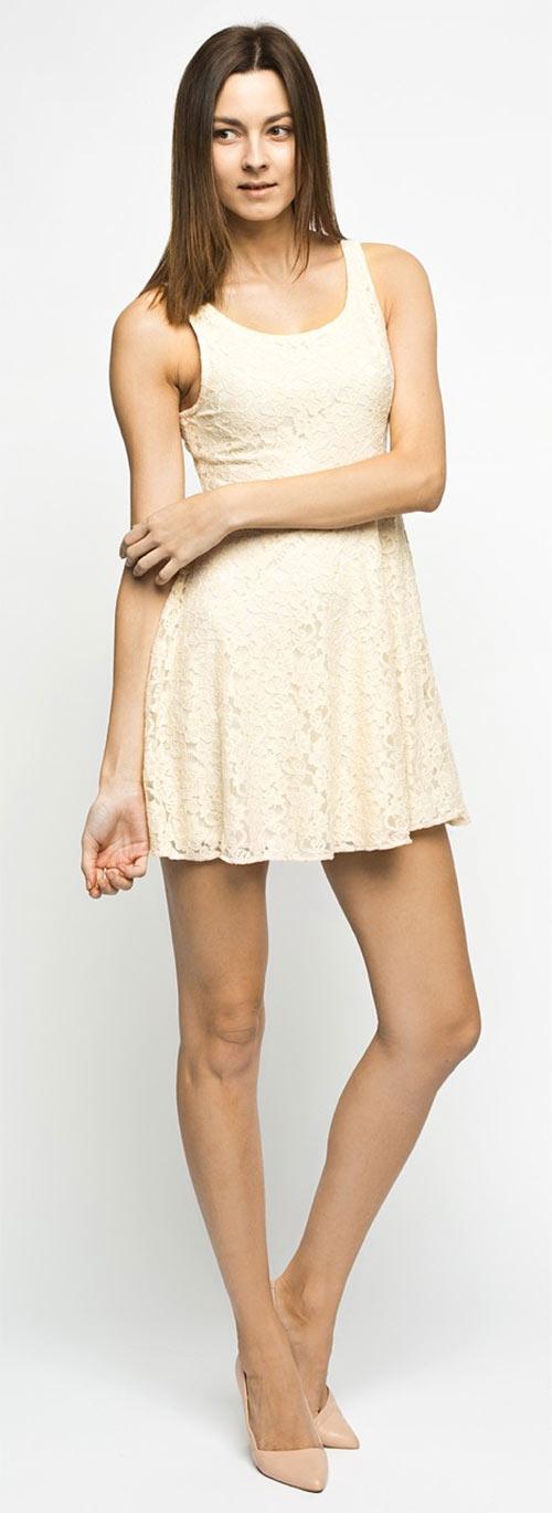 Review - Šaty z dvouvrstvého materiálu - krajky a pleteniny