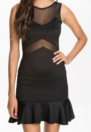 Moderní dámské sexy mini šaty s ozdobnými cvočky