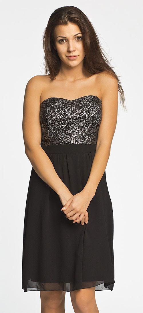 Éterické šaty bez ramínek Corsage