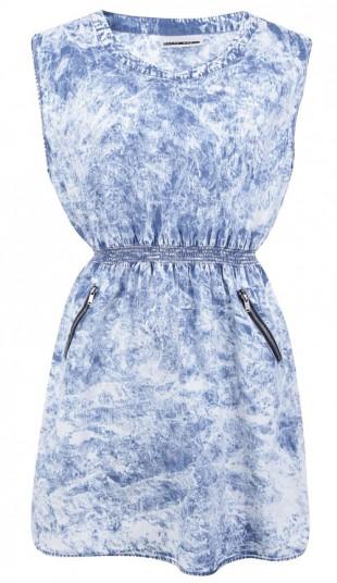 Světle modré denimové šaty Noisy May We