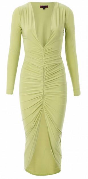 Dámské velmi sexy rafinované šaty v limetkové barvě