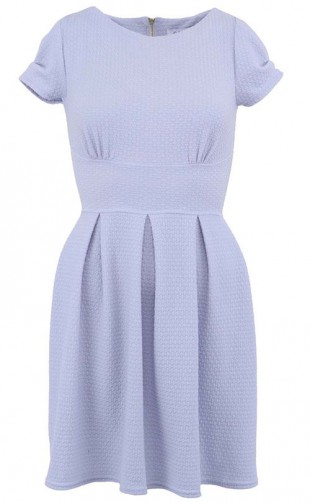 Světle modré šaty značky Closet se zipem na zádech