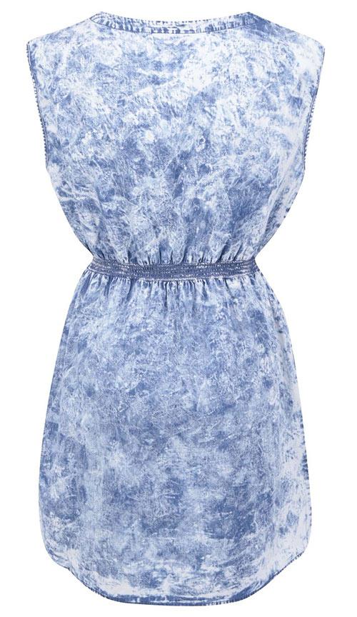 Krátké riflové šaty