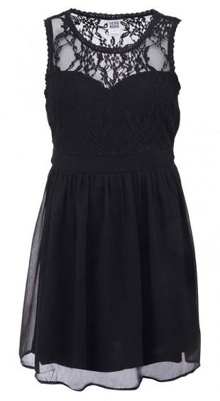Černé krajkové dámské šaty Vero Moda Neja