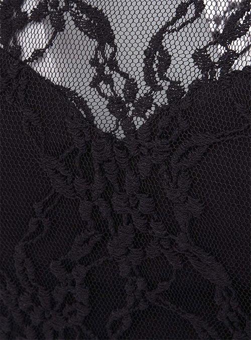 Černé letní šaty s krajkou