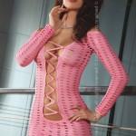 Erotické šaty s dlouhými rukávy CANTARA LivCo s děrováním