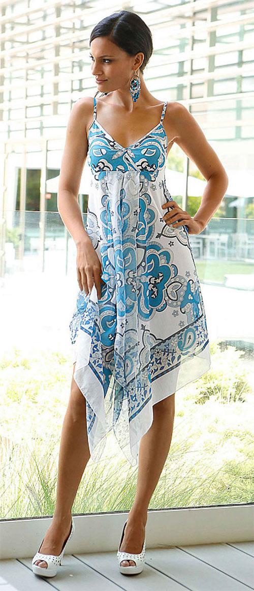 Extravagantní francouzské letní šaty s potiskem