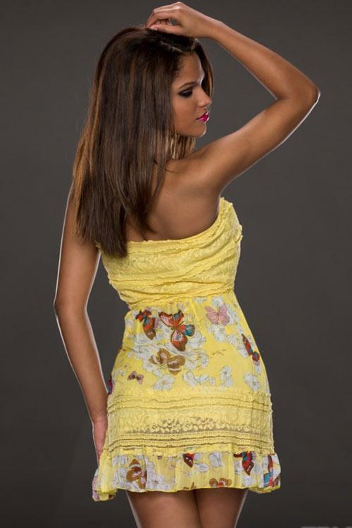 Lehké letní šaty s krajkou