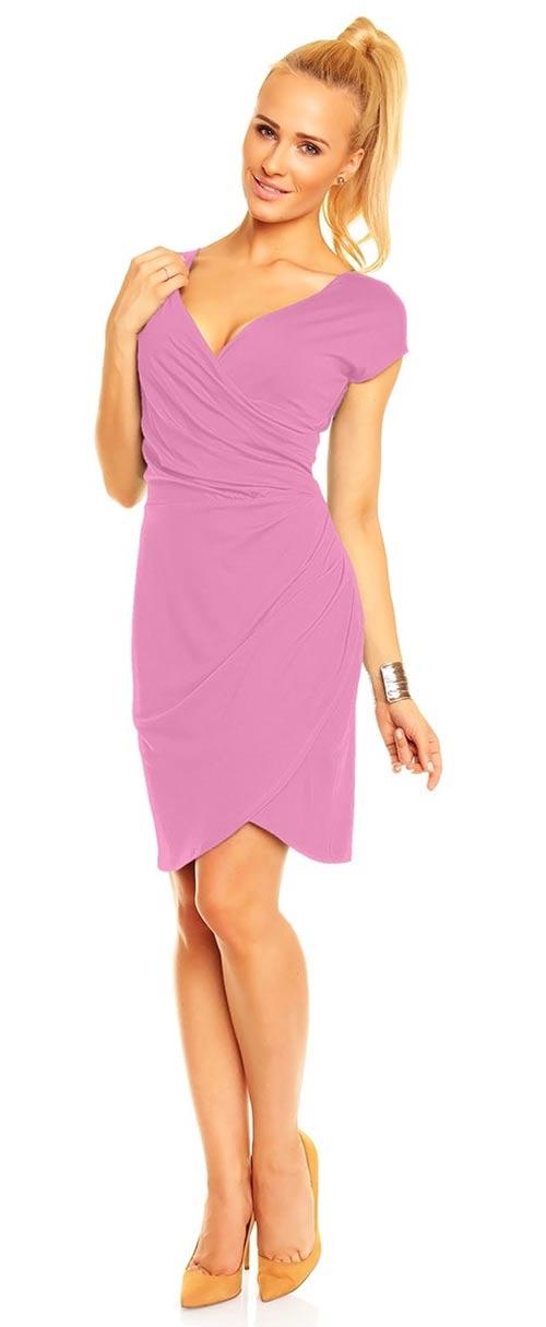 Fialové šaty do společnosti