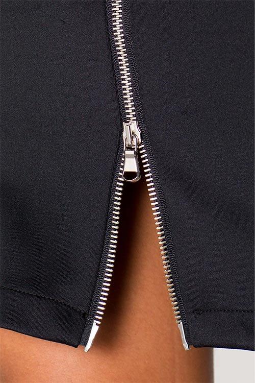 Šaty s rozparkem na zips