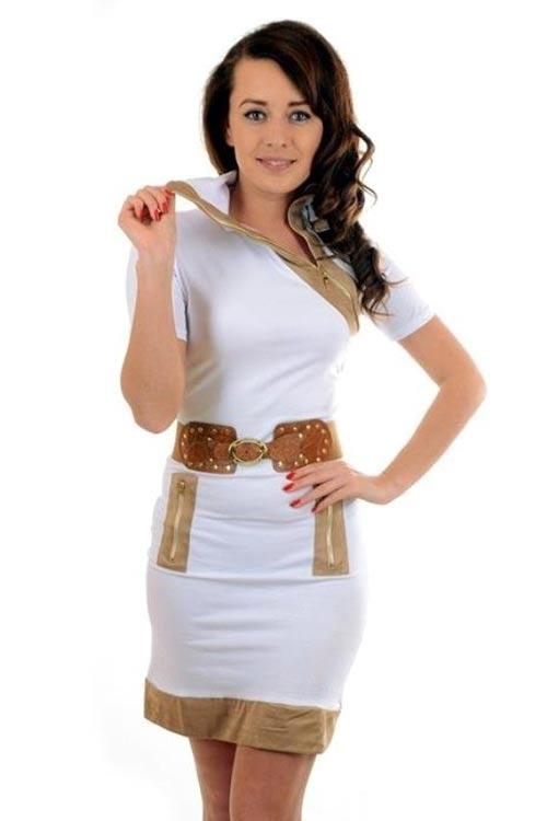 Šaty s vysokým stojáčkem