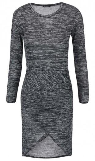 Tmavě šedé žíhané šaty Haily´s Eileen