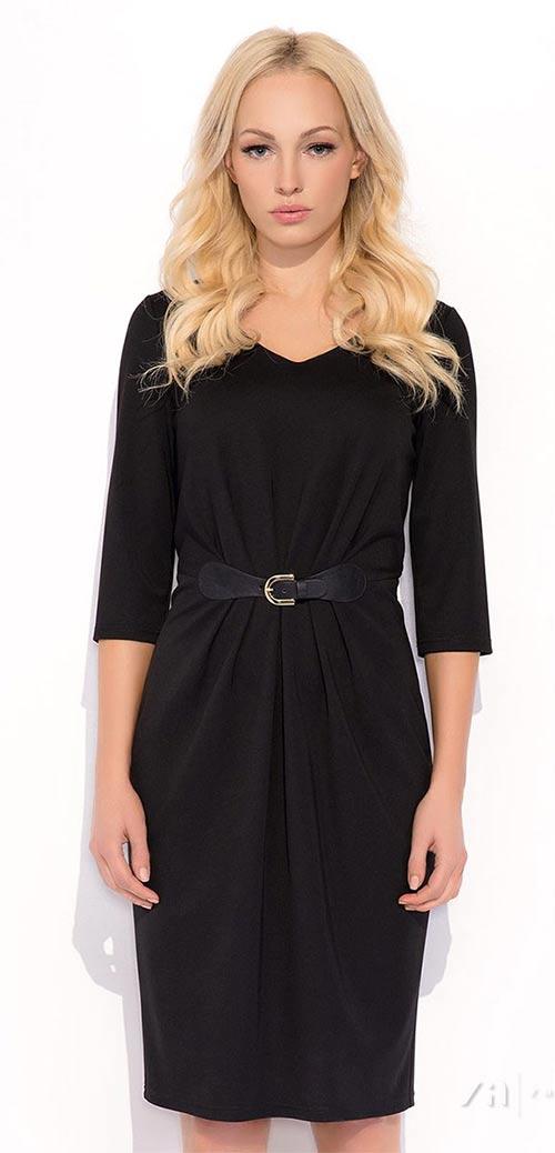 Elegantní pouzdrové šaty Blair v černé barvě