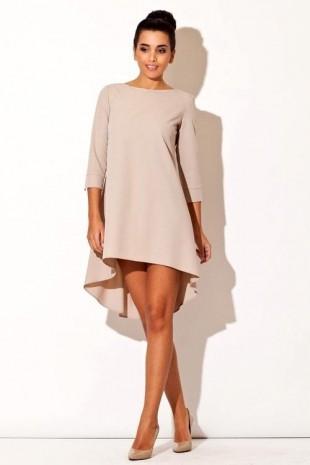 Elegantní šaty K0141 KATRUS asymetrického střihu