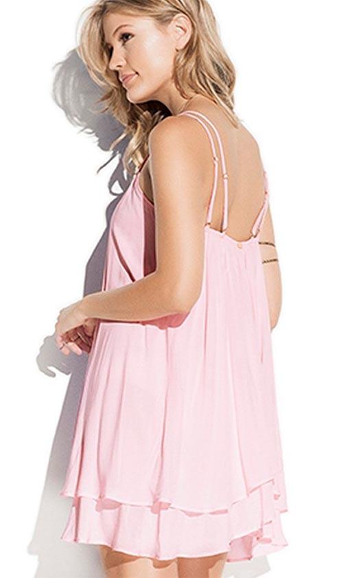 Lehounké dámské šaty z umělého hedvábí