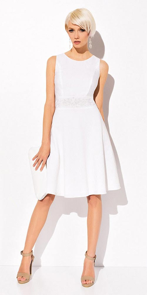Romantické lehounké bílé šaty Sally